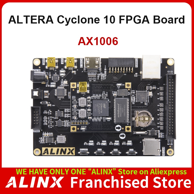 ALINX AX1006: Intel Cyclone 10 10CL006 FPGA Development Board