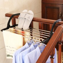 Towel storage rack, balcony, shoe rack, multi-functional folding window, laundry dryer room CY50720