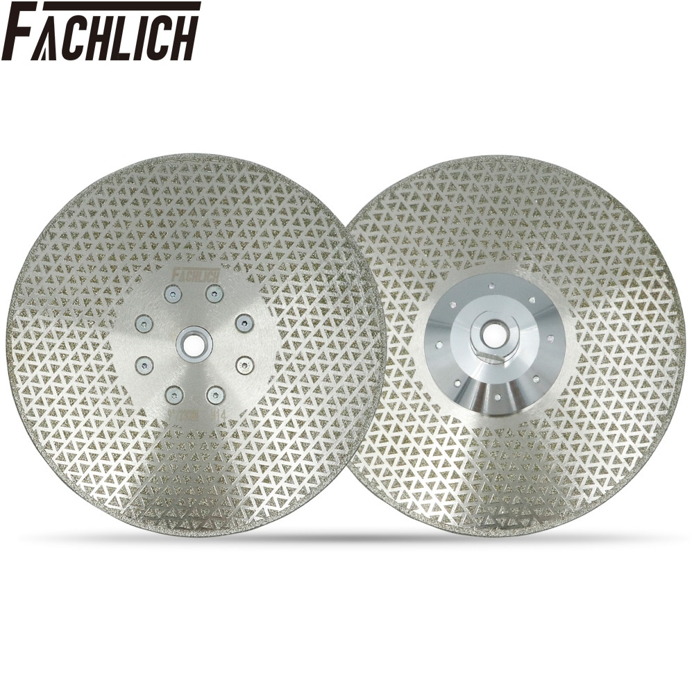 FACHLICH 2pcs Professional Electroplated Diamond Cutting Disc Grinding Saw Blade for Granite Marble Grinding Wheel