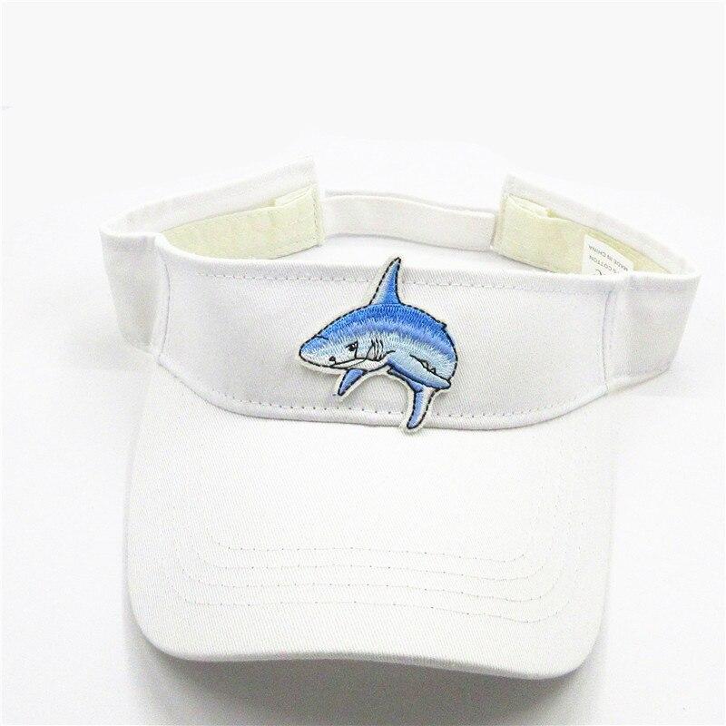 El nuevo estilo tiburón bordado visores gorra de béisbol ajustable Snapback Cap para hombres y mujeres 300