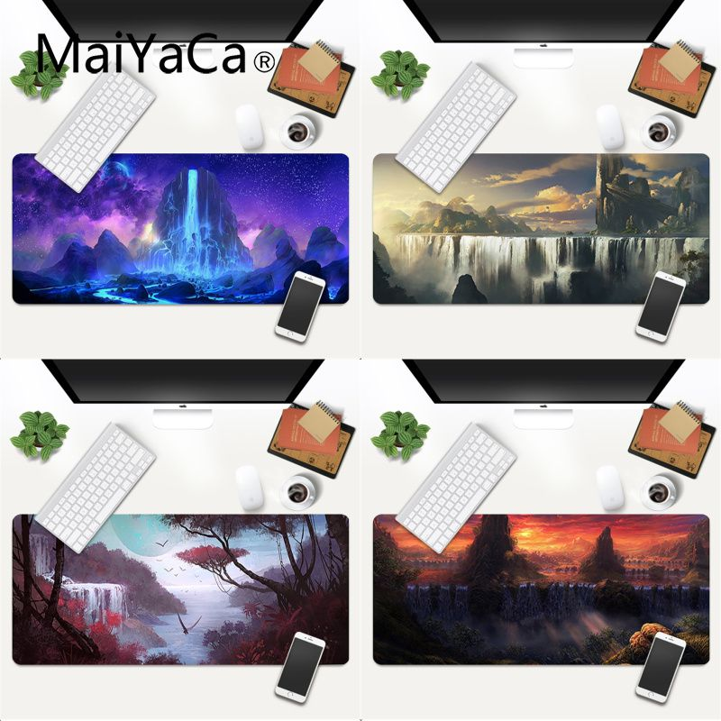 Игровой коврик для мыши MaiYaCa, с принтом водопадов и неба, игровой коврик для мыши, коврик для игровой мыши xl xxl 800x400 мм для world of warcraft