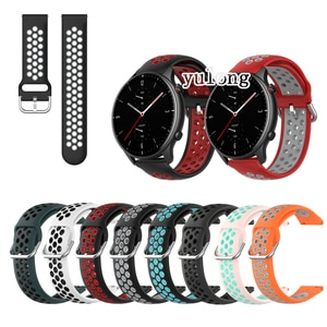 20mm 22mm Sport Silicone Breathable Strap For Huami Amazfit GTR 42mm 47mm GTR 2 GTR 2e Smart Watch Wristband