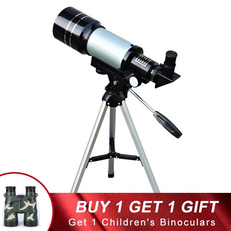 Nanoo HD reloj de Luna niños adultos Zoom telescopio astronómico visión nocturna al aire libre 150X Refractive espacio portátil foco regalos