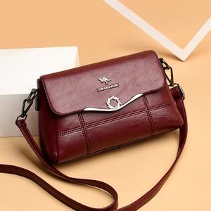 New Fashion Thread Leather Shoulder Crossbody Bags For Women Popular luxury Women's Leather Handbags Women Messenger Bag