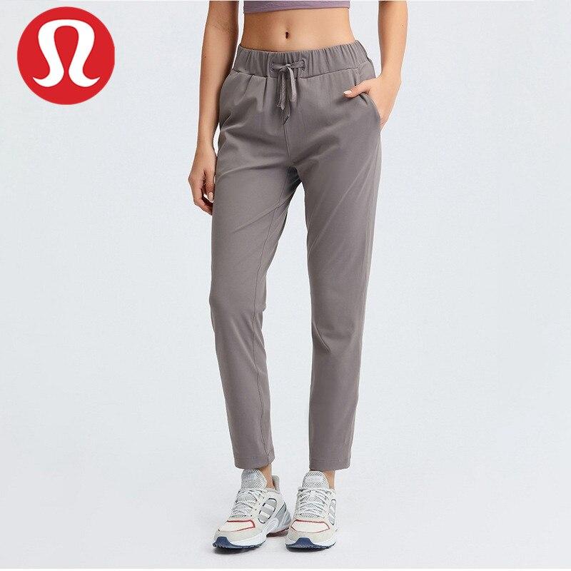 Lululemon-Pantalones informales Nude de 28 pulgadas, pantalón que se puede dar la...