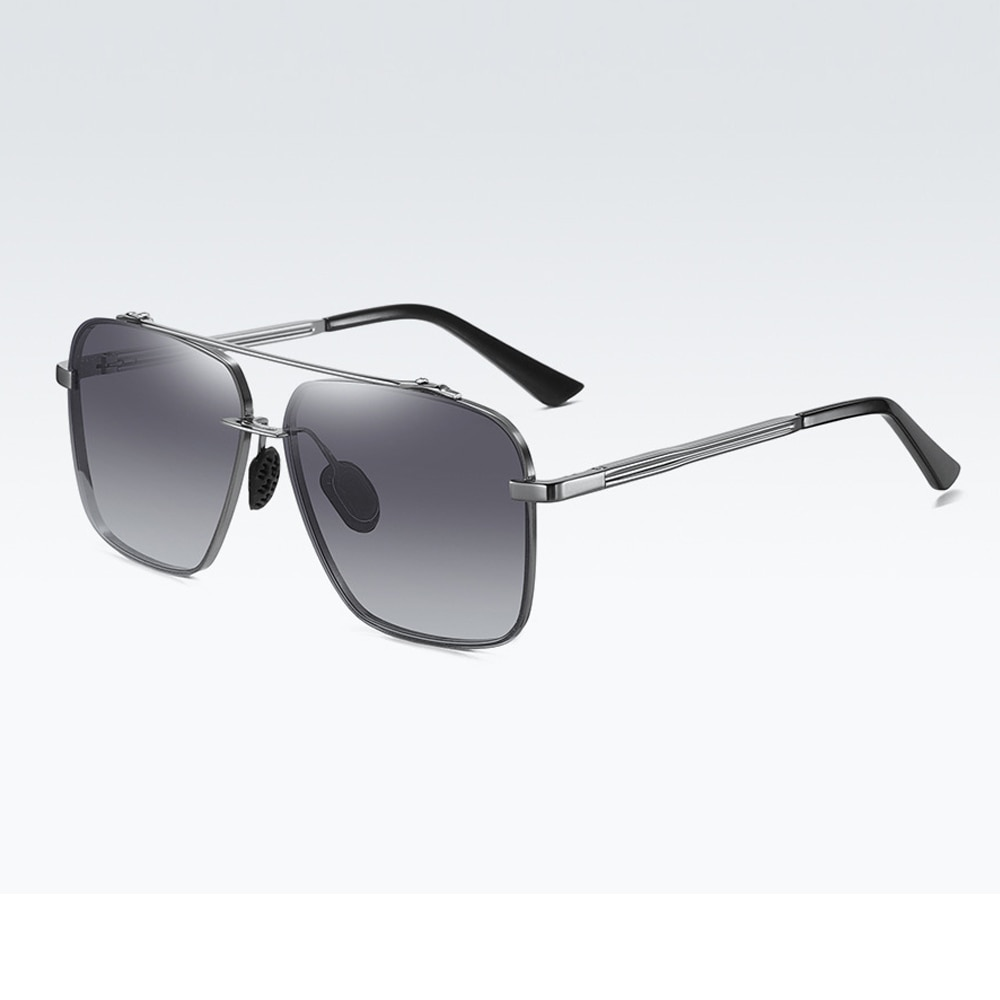2021 Men Polarized Sunglasses Oversized Metal Frameless UV400 Driving Sunglasses Night Vision Glasses With Box