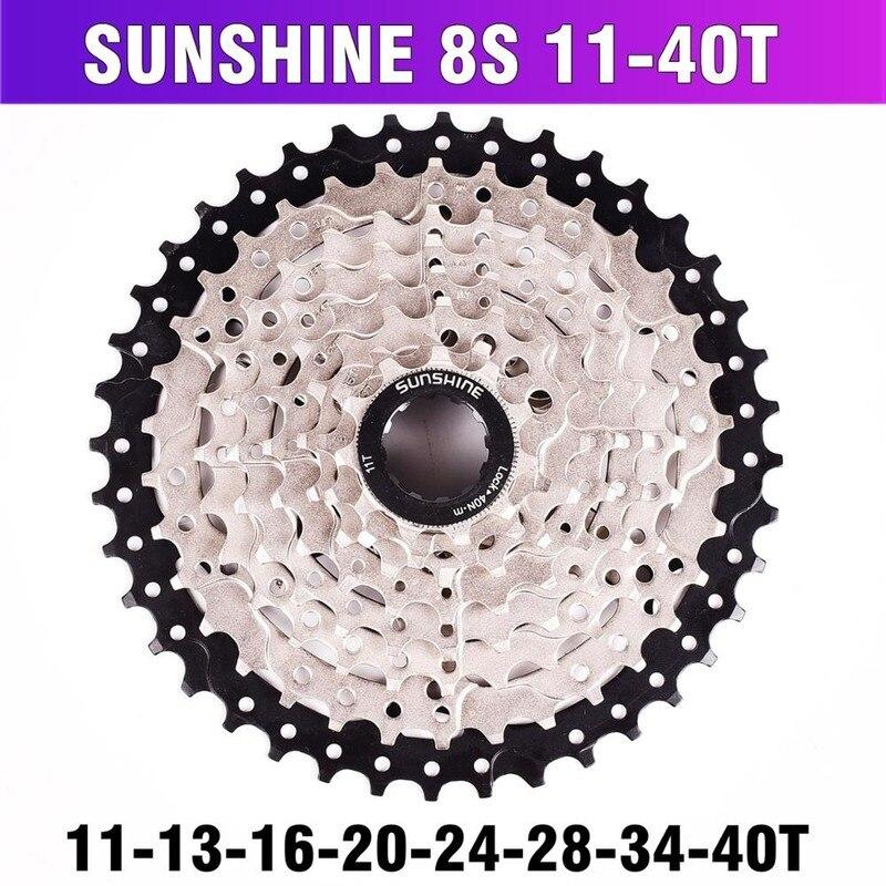 MTB volante de bicicleta de montaña 8 24 velocidades piñón de Cassette MTB bicicleta Freewheel 8 S 11-32 36 40 42T para 8 velocidades piezas de bicicleta de montaña