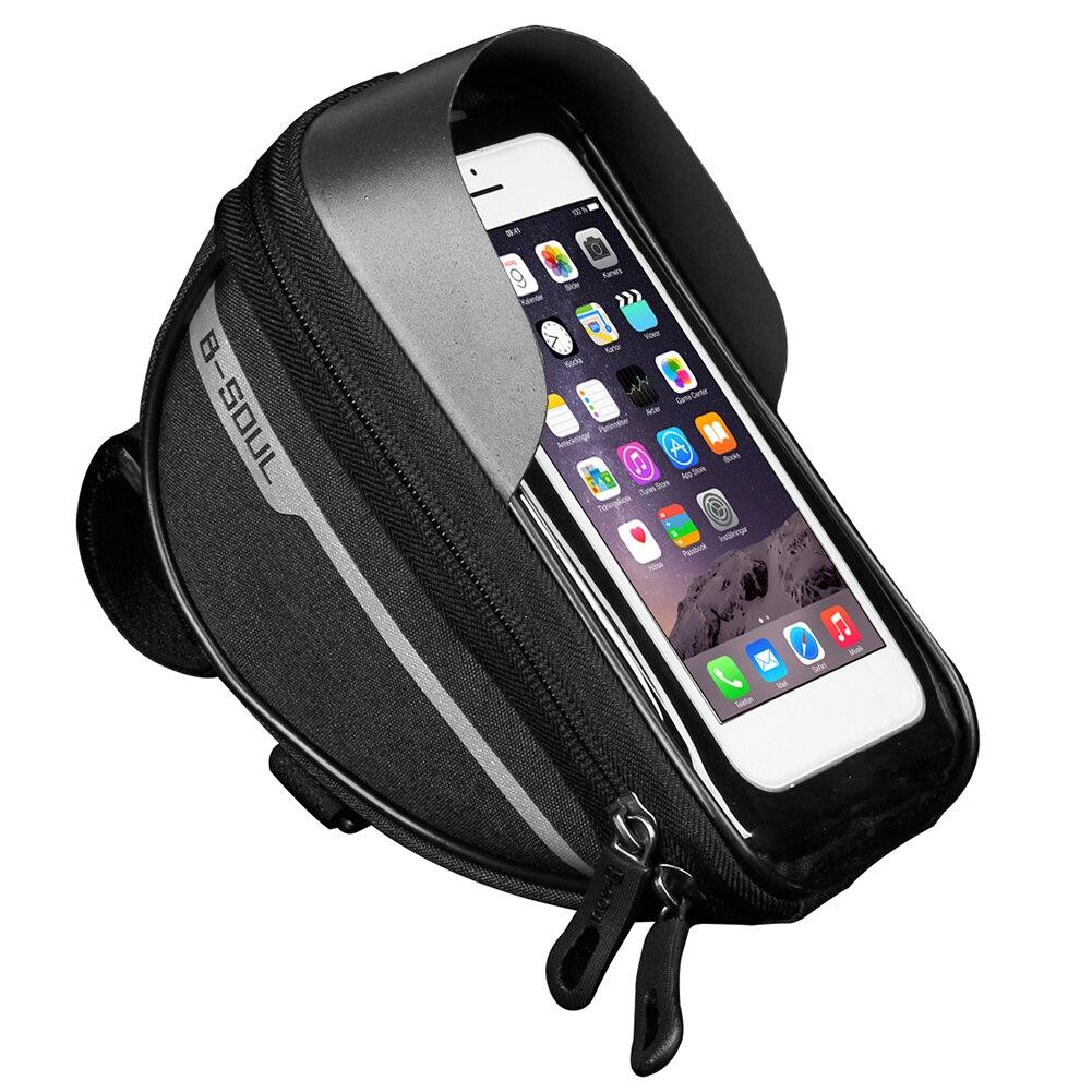 Bicicleta bicicleta tubo de cabeza del manillar celular funda de teléfono móvil con bolsa funda, soporte mochila impermeable de la pantalla táctil bicicleta bolsa
