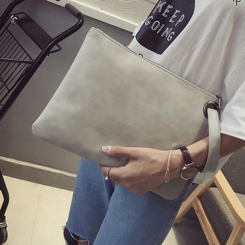 Fashion Solid Womens Clutch Bag Leather Women Envelope Evening Female Clutches Handbag