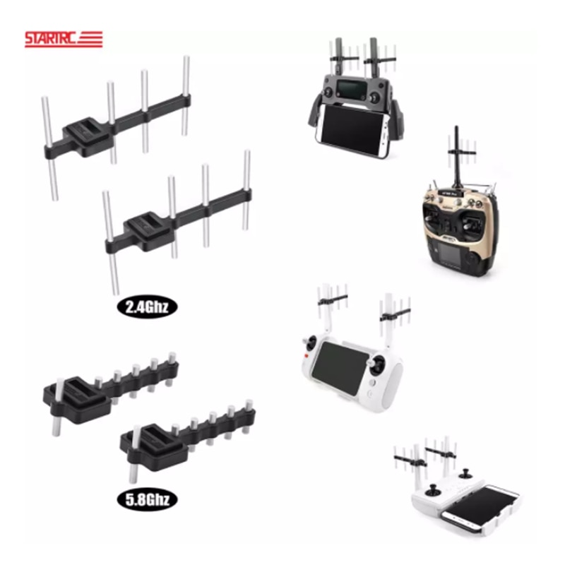 Yagi-Uda Antenna Universal Signal Booster For Radiolink RC4GS AT9S DJI Mavic 2 Mini Air 2 Phantom 3 4 FIMI X8SE  I6X 2.4G/5.8Ghz