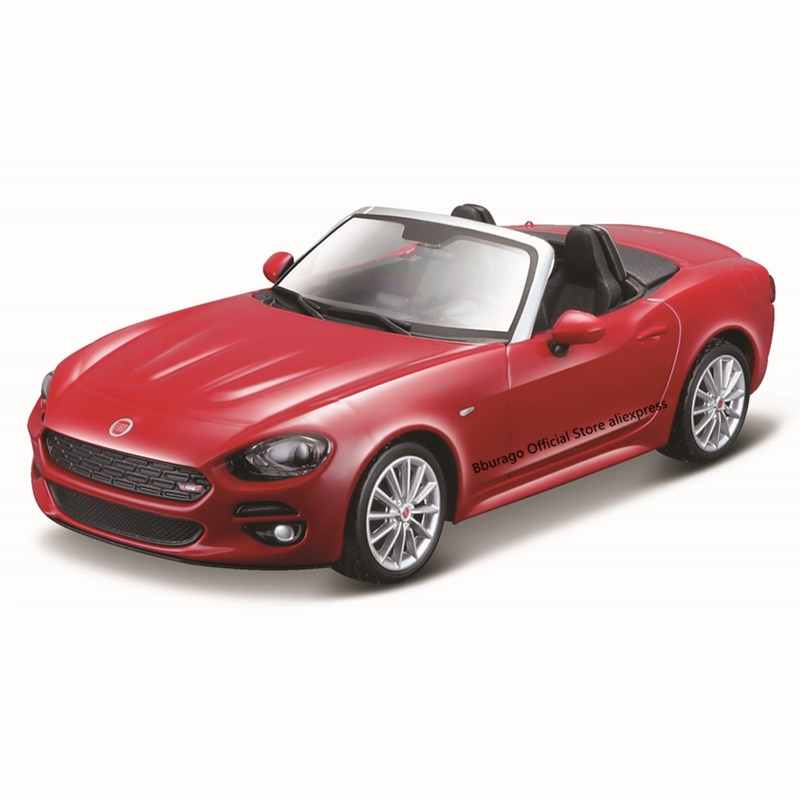 Bburago 1:24 Scale Fiat 124 Spider alloy racing car Alloy Luxury Vehicle Diecast Cars Model Toy Collection Gift alloy diecast model trucks transport 1 50 engineering car vehicle scale truck collection gift toy