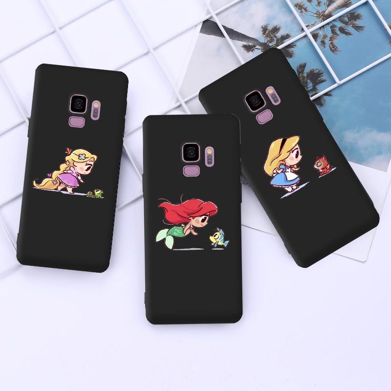 Mini Princesses Mermaid Belle Snowwhite Case For Cover Samsung S9 Case for Samsung S10 S20 Ultra S10E S9 S8 Plus S7 Edge