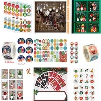 279pcs christmas wall stickers set living room window glass decal funny cartoon label party gift box bell greeting card sealing
