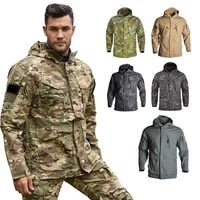 han wild winter men outdoor tactical jackets camouflage hooded army clothing coat military jacket windproof windbreakers airsoft