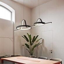 قلادة LED أضواء الحديثة أبيض أسود الذهب معلقة مصابيح متدلية ل Diningroom غرفة نوم المطبخ بهو أضواء المنزل فندق ديكور