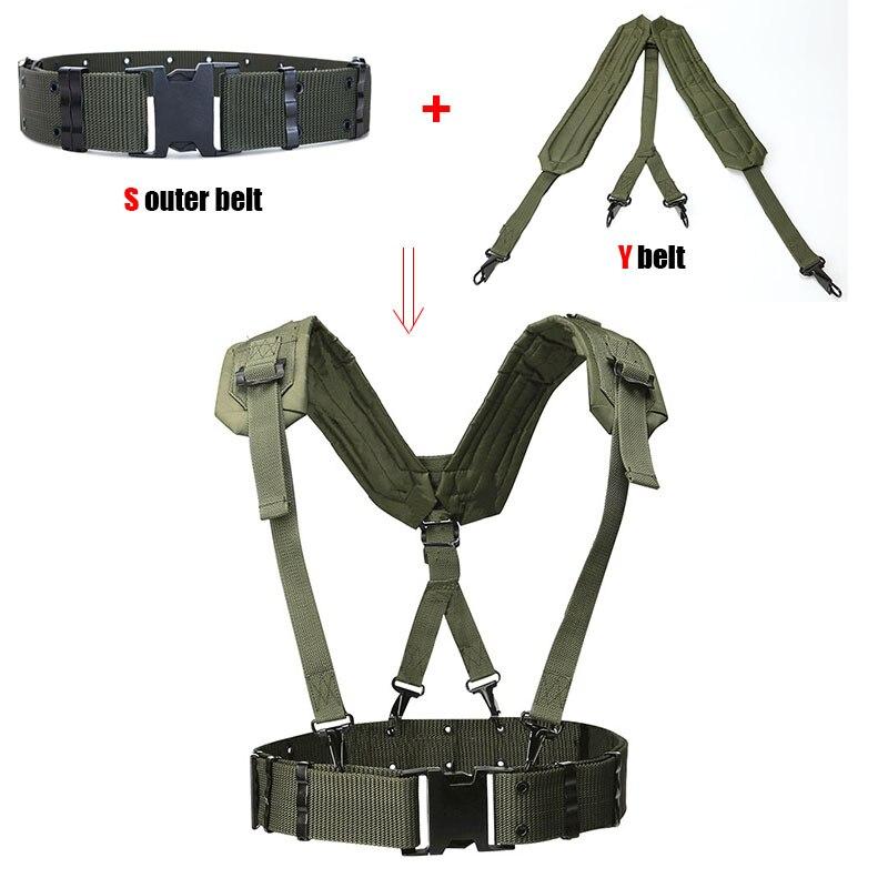 Cinturón táctico para exterior CS, cinturones de combate para Fans del ejército, accesorios militares de caza Y cinturón, cinturón, cinturón de hombro, correa de pecho táctico Militar