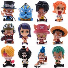12 Styles Anime One Piece GK Luffy Snake Man Zoro Nami Sanji Chopper Brook Robin Franky Brook PVC Action Figure Model Toy