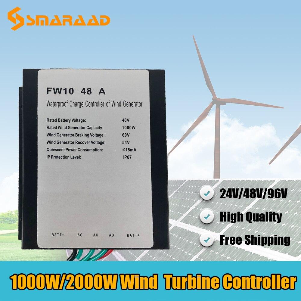 وحدة تحكم طاحونة هوائية مقاومة للماء ، مولد طاقة الرياح ، منظم طاقة الرياح ، 1000 واط ، 2000 واط ، 24 فولت ، 48 فولت ، 96 فولت