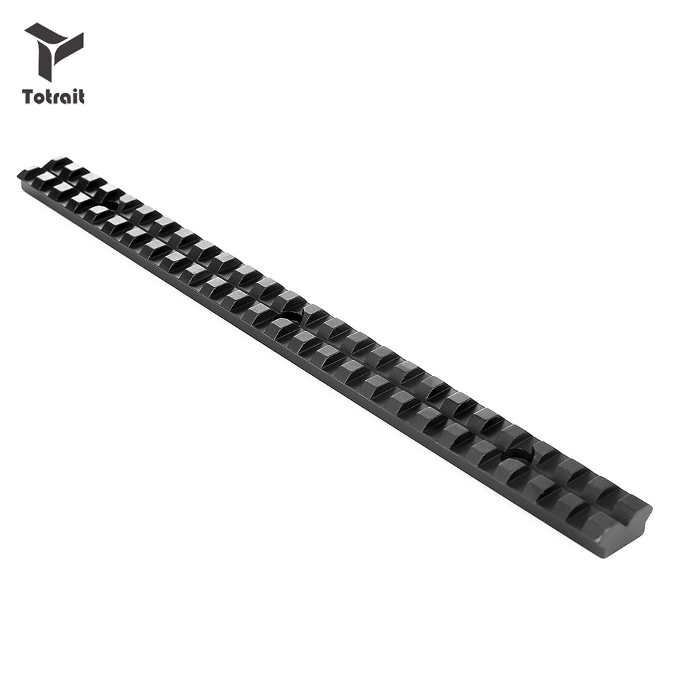 TOtrait Picatinny Rail 20mm Mount with 25 Slots and 257mm Length of Aluminum Alloy for Tactica Hunting Rifles B Scope Mount недорого