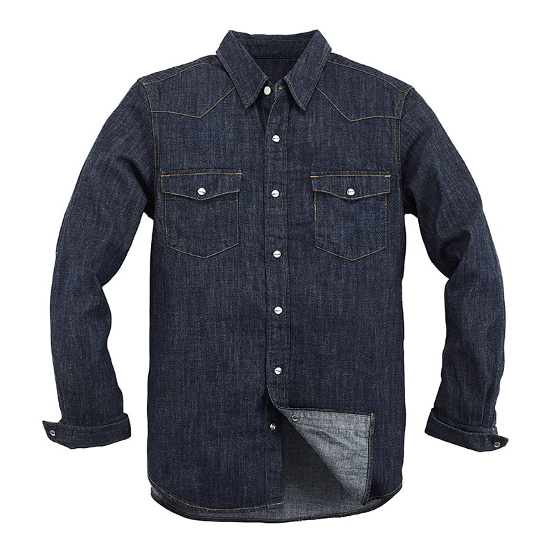 2020 New Vancl Primavera Outono Mens Jaqueta Jeans Mens Moda Trendy Shirt Fino Rasgado Calça Jeans Camisa Jaqueta Jeans Cowboy Masculino