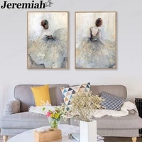 abstract beauty background canvas poster elegant ballerina painting print wall art nordic style room home decoration
