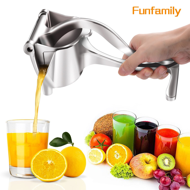 Manual Juice Squeezer Aluminum Alloy Hand Pressure Orange Juicer Pomegranate Lemon Squeezer Kitchen Accessories