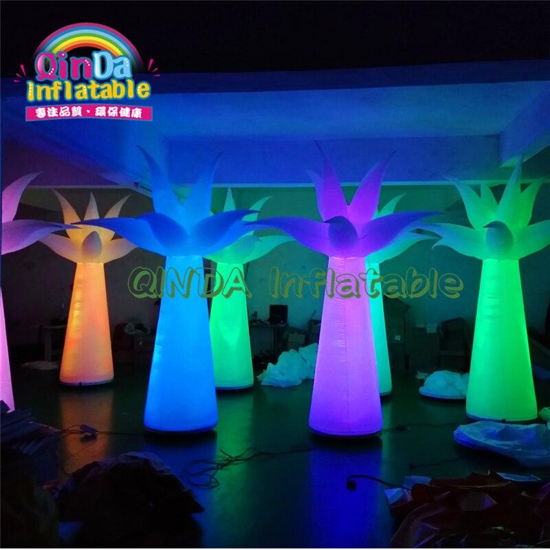 Promoción inflable publicidad dibujos animados streak Pilar/tubo/columna inflable con luz LED para la venta