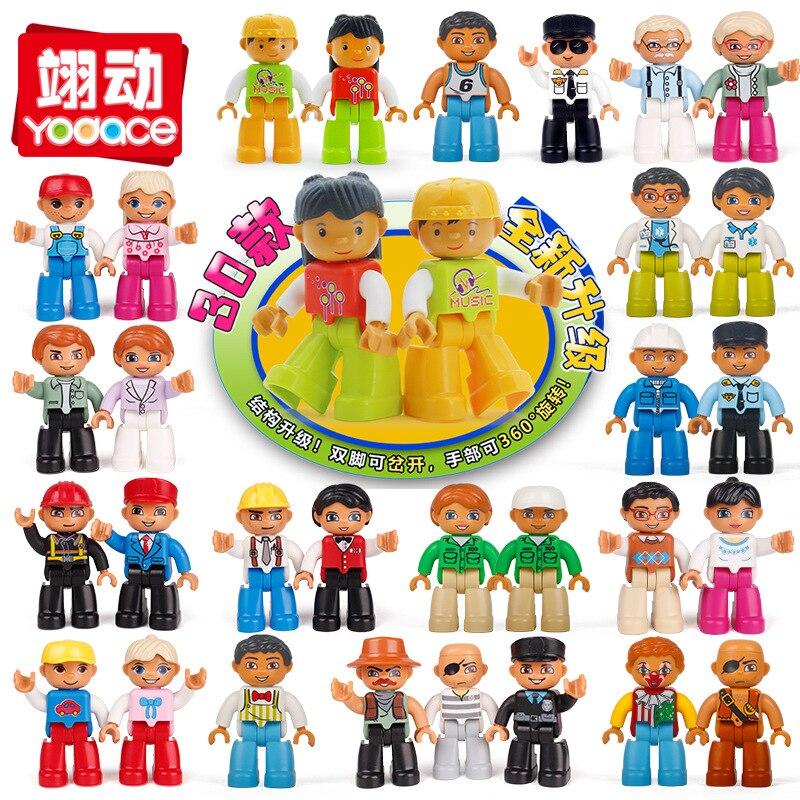 Строительные блоки Duplo фигурки ферма фигурки совместимые блоки с семьей Полиция Образовательные игрушки для ребенка
