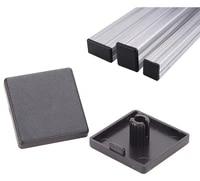 20pcs 2020 black plastic abs accessories end cap cover for aluminum profilfe extrusion