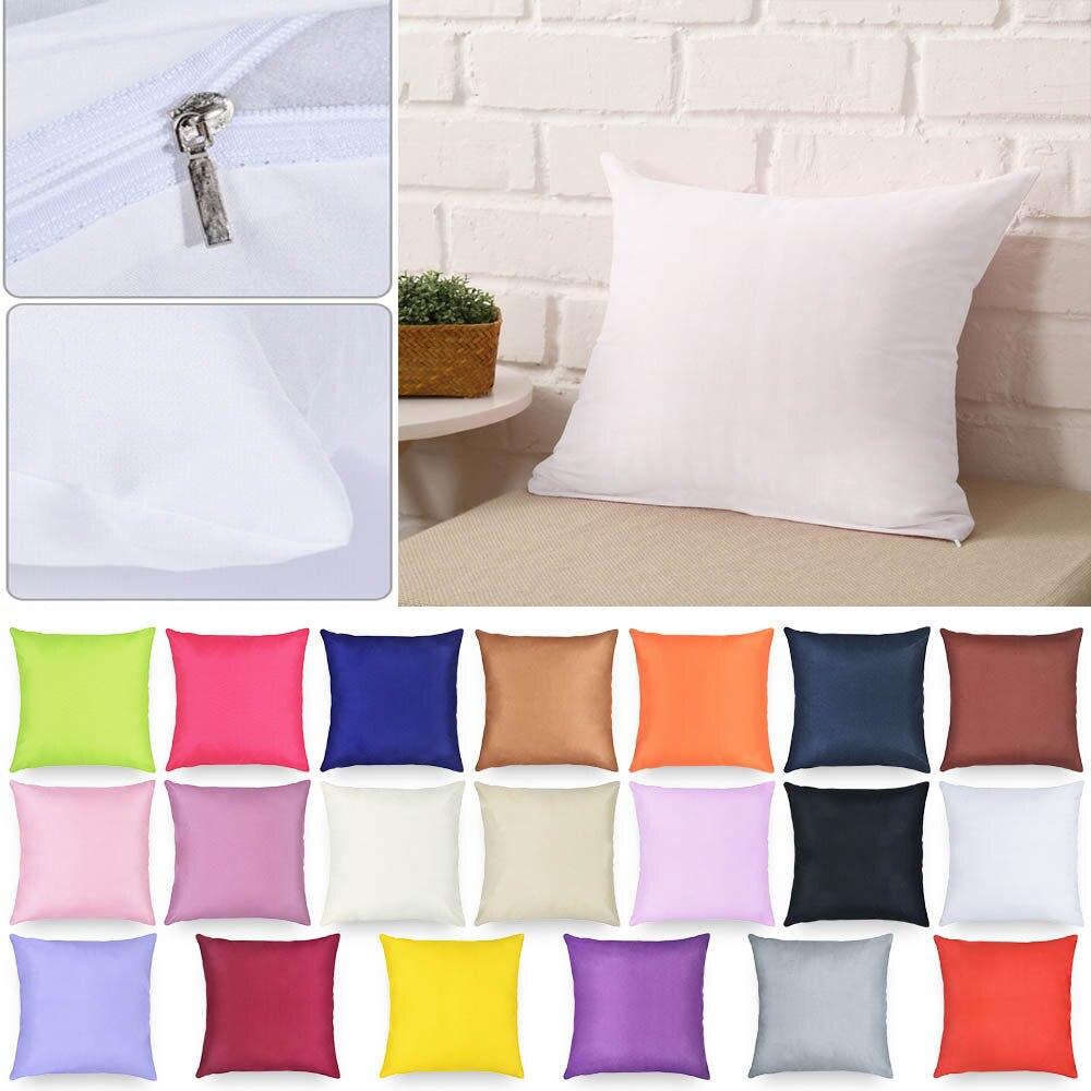 21 cores cor sólida fronha de algodão decorativo cadeira capa de almofada para sofá lance travesseiro caso cadeira fronha 40x40cm