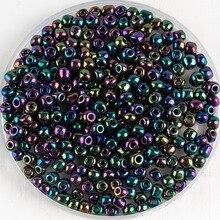 En gros 4mm métal coloré tchèque perles de rocaille perles en vrac pour bracelet à bricoler soi-même collier boucles doreilles matériaux faits à la main