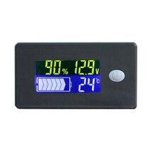 12-72V LCD acide plomb Lithium batterie indicateur de capacité voltmètre testeur de tension avec câble batterie moniteur mètre