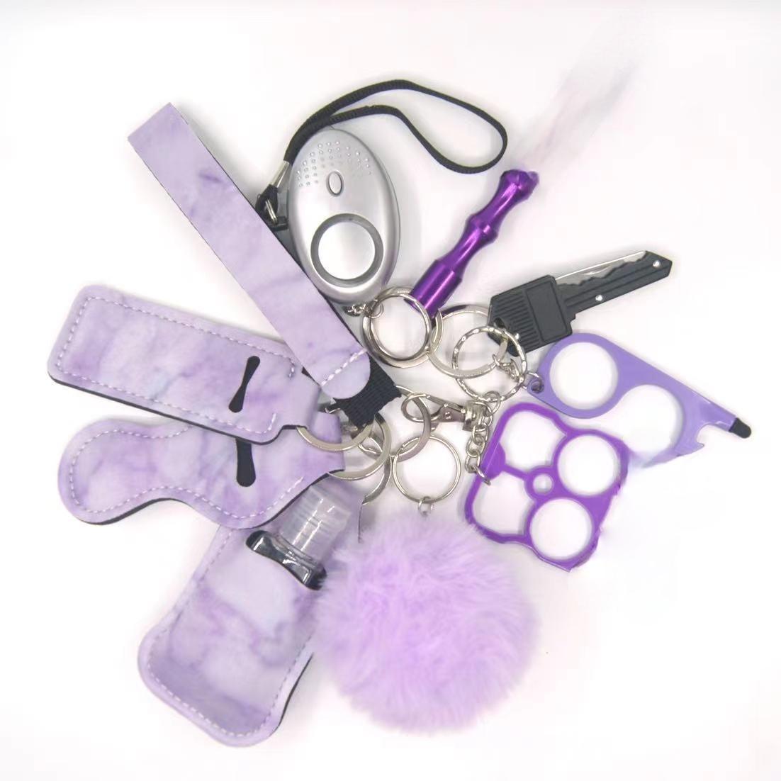 2021 Женская сигнализация набор персональных брелоков для самозащиты, будильник, брелок для самозащиты, безопасность для девочек