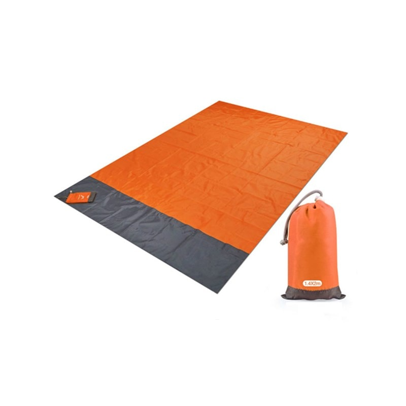 Inflatable Cushion Camping Travel Essentials Waterproof Beach Towel Foldable Camping Anti-sand Ultralight  Picnic Blanket