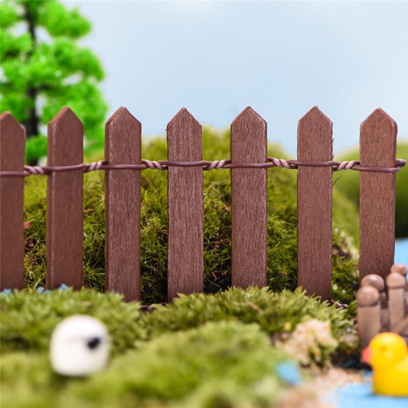 90cm cerca de madeira artesanal em miniatura jardim casa casas decoração mini artesanato micro paisagismo decoração diy acessórios