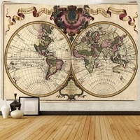 simsant map of warcraft tapestry nautical sea route art wall hanging tapestries for living room bedroom dorm home blanket decor