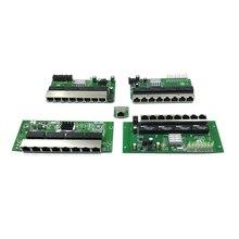 10/100/1000 m OEM PBC 8 Port Gigabit Ethernet Switch 8 Port met 8 pin way header hub Pcb board OEM schroef gat 8way power pin