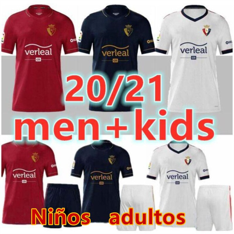Men New arrive 20 21 for Osasuna kids Camiseta De Futbol kids Camisa leisure best quality running T-