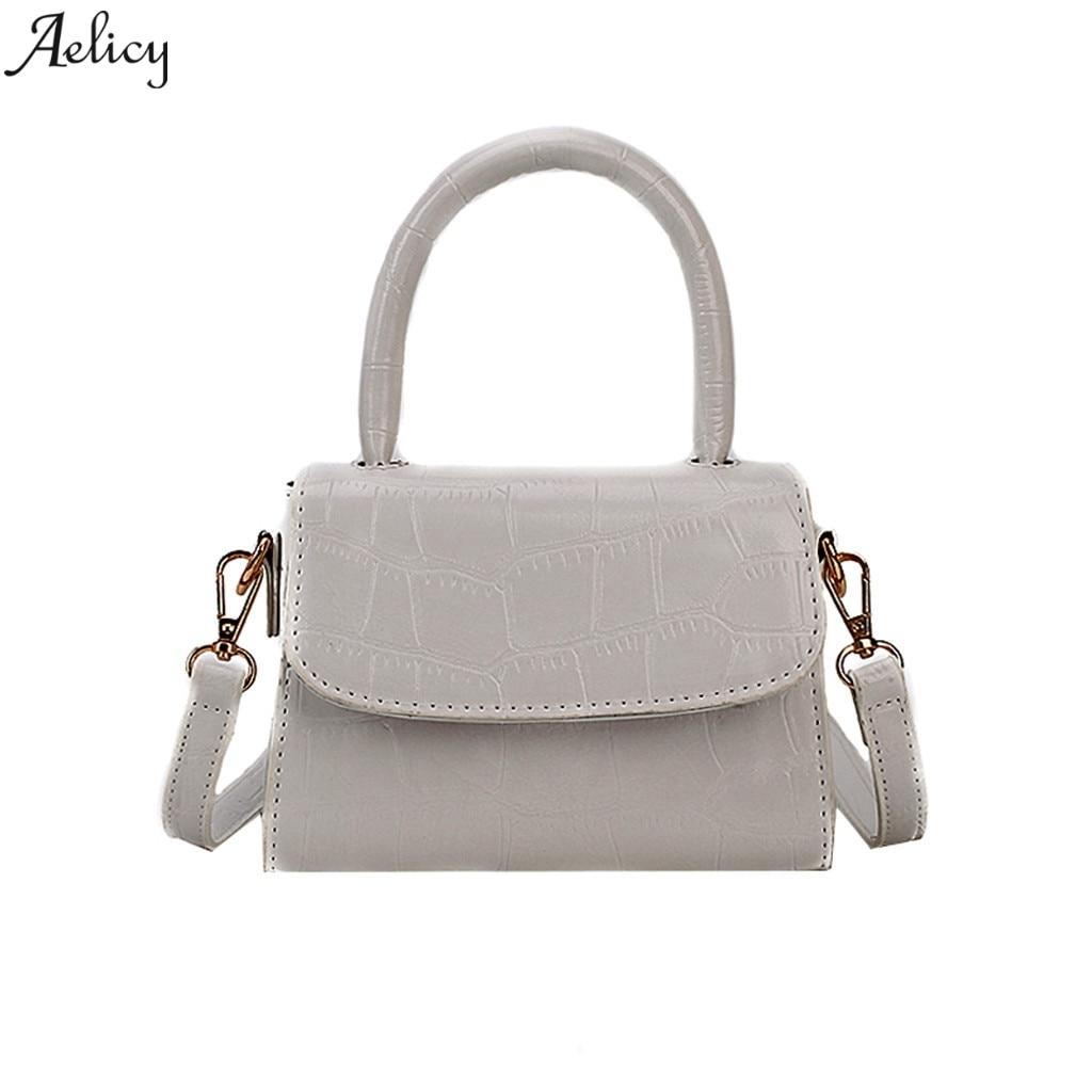 Aelicy, bolso de hombro, bolso de cuero para mujer, Vintage, bandolera cruzada, bolso de hombro, bolsos de mano, bolsos de cuero para mujer