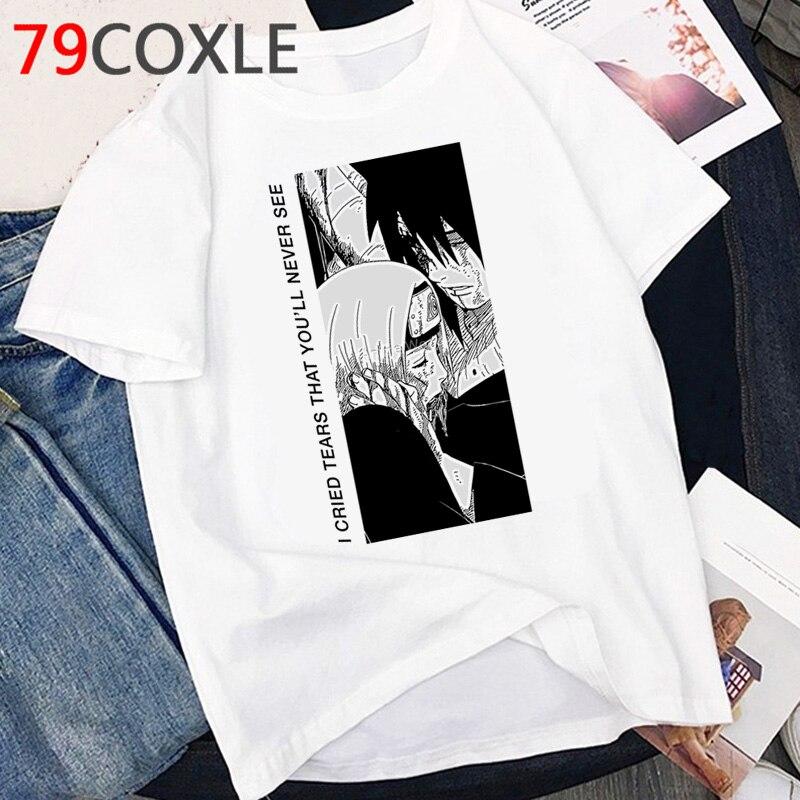 Naruto Akatsuki T Shirt Men Kawaii Cartoon Graphic Tshirt Hot Japanese Anime Funny Sasuke T-shirt Harajuku Summer Top Tees Male