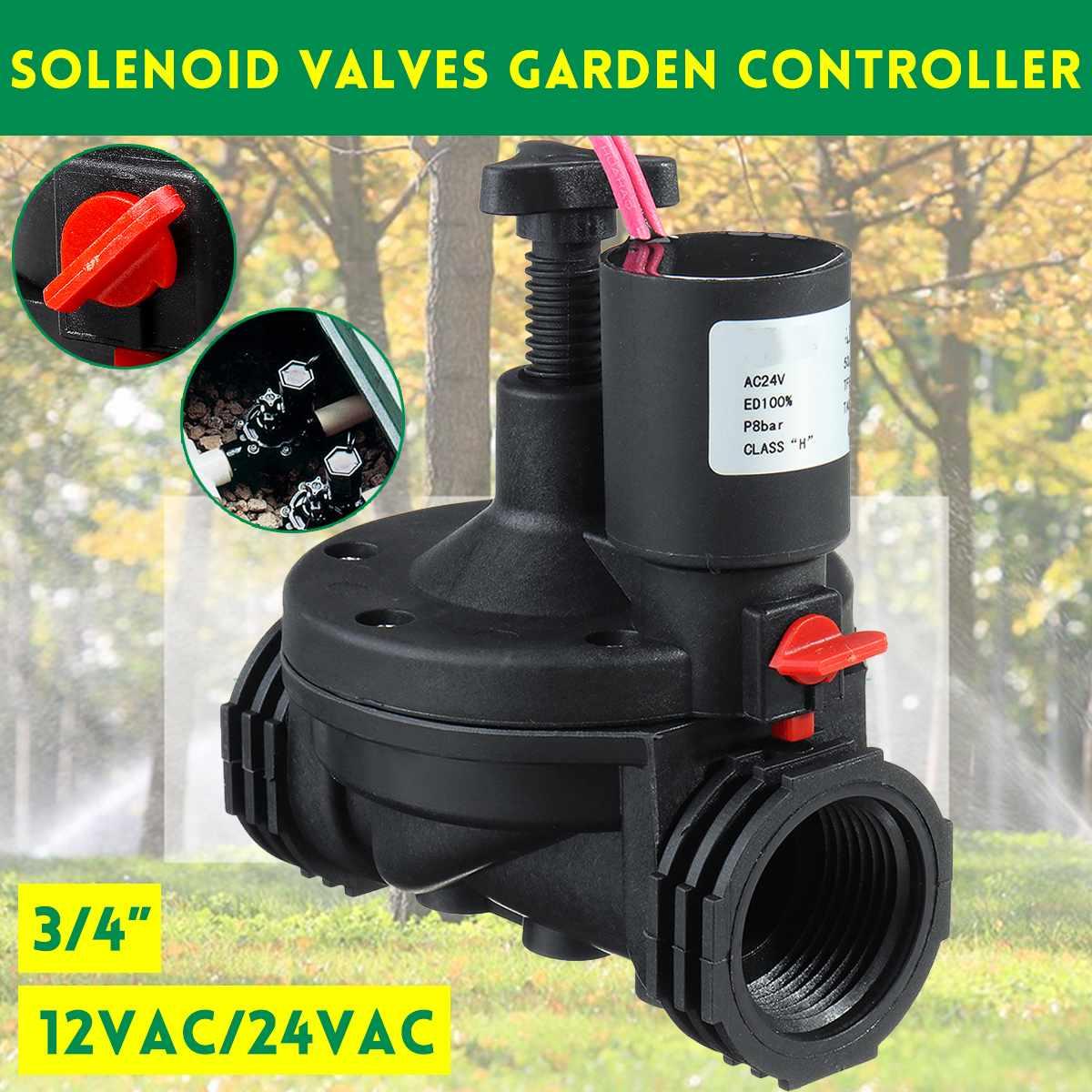 صمام الري الصناعي 3/4 بوصة ، 12 فولت/24 فولت تيار متردد ، صمامات الملف اللولبي ، وحدة تحكم الحديقة ، مؤقت مياه الحديقة