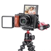 uurig c g7x iii vlog camera cage for canon g7x mark iii aluminum alloy cage with wooden handle
