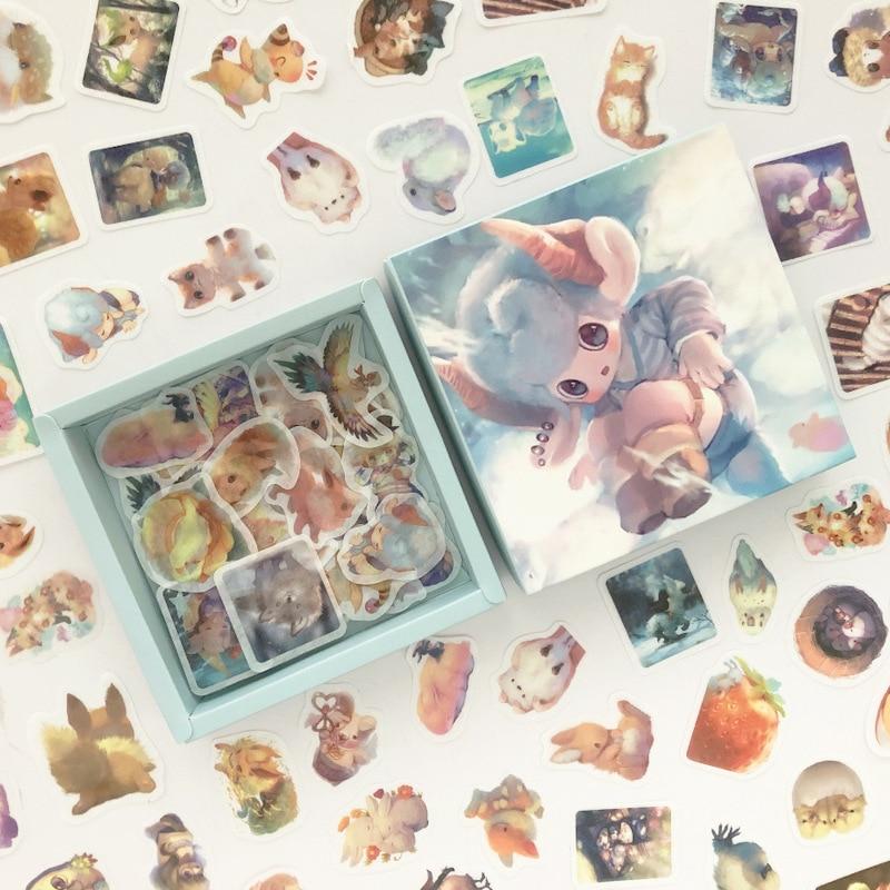 200 pcs/pack Magic Baby Rabbit Cat Series Box Bullet Journal Decorative Stationery Stickers Scrapbooking DIY Diary Album Stick