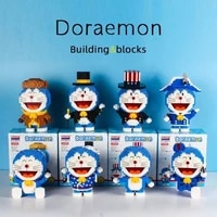 doraemon small particle building blocks highly difficult assembling 3d three dimensional diy building blocks childrens toys
