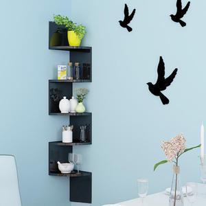 7 Floor Corner Bookshelf Bookcases Storage Shelve For Books Magazine Picture Book Rack Decorative Frame Wall Shelf Hanger