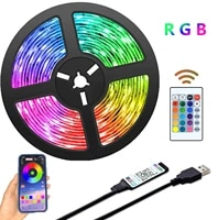 led strip light bluetooth usb powered led lights strips with remote rgb 2835 color changing led tv backlights for home decor