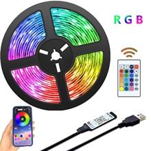 Strisce luminose a LED Bluetooth alimentate tramite USB strisce luminose a LED con retroilluminazione a LED RGB 2835 a colori che cambiano colore per la decorazione domestica