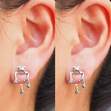 Cute Frog Earrings for Women Girls Animal Gothic Punk Stud Earrings Piercing Female Korean Jewelry B