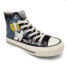 Chiang hommes chaussures de planche à roulettes plates sport Commic Tom & Jerry Original Sneaker léger Jogging Lowprice confortable respirant