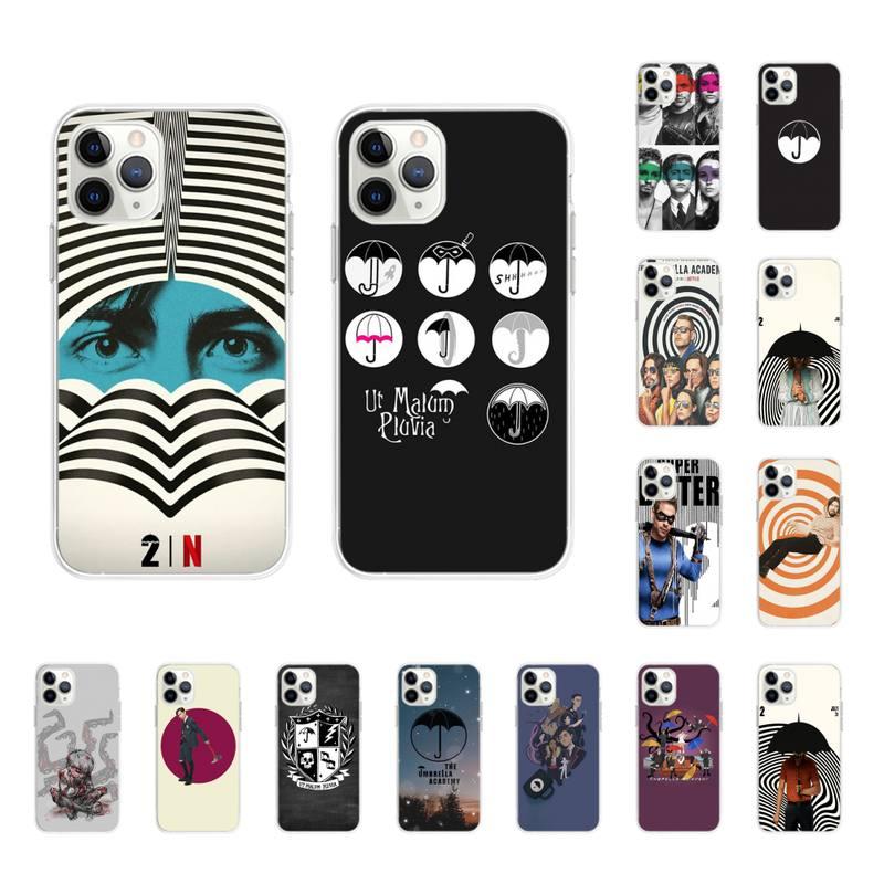 Yinuoda guarda-chuva academia luxo exclusivo telefone capa para iphone 11pro 12pro max 8 7 6s plus x xs max 5 5S se xr fundas capa